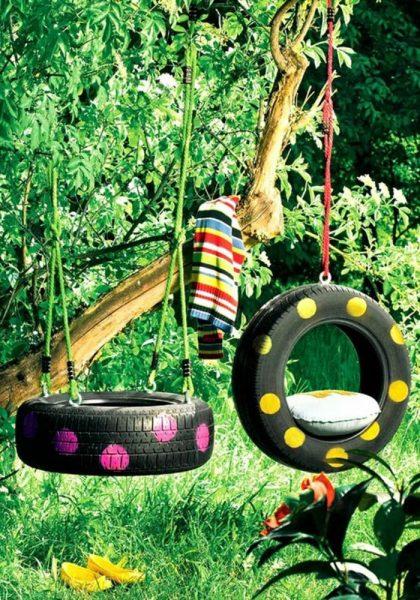 pneus balançoires