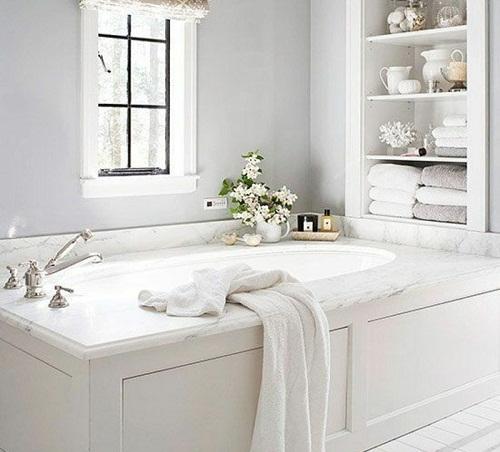 salle de bain etageres