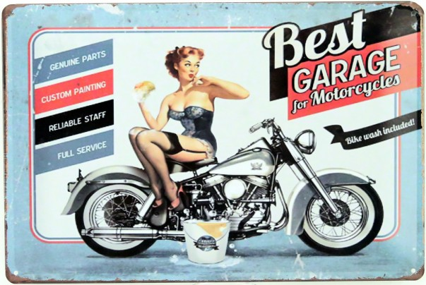 Plaque Pin Up Garage