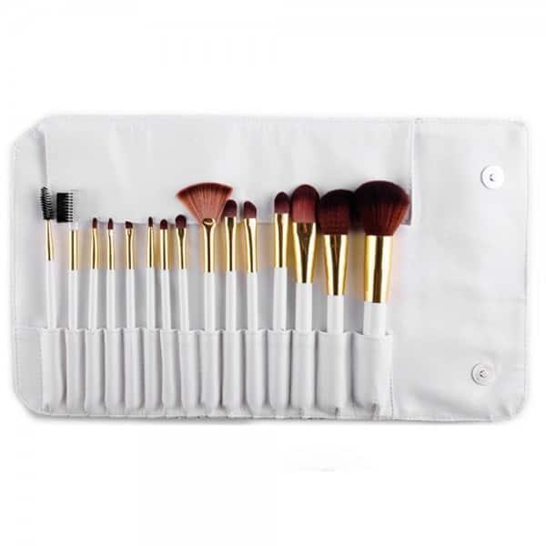 Kit 15 pinceaux maquillage et pochette arabesque