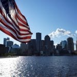 Drapeau des USA à Boston