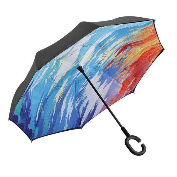 parapluie inversé femme