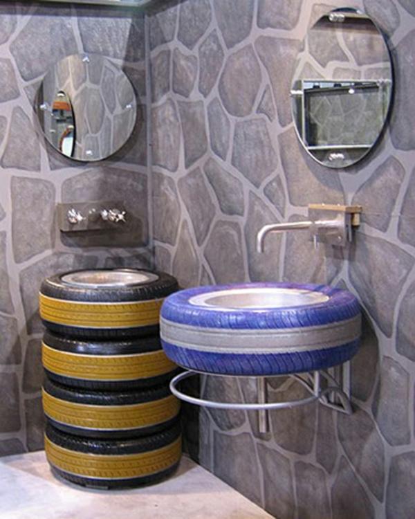 douche et pneu