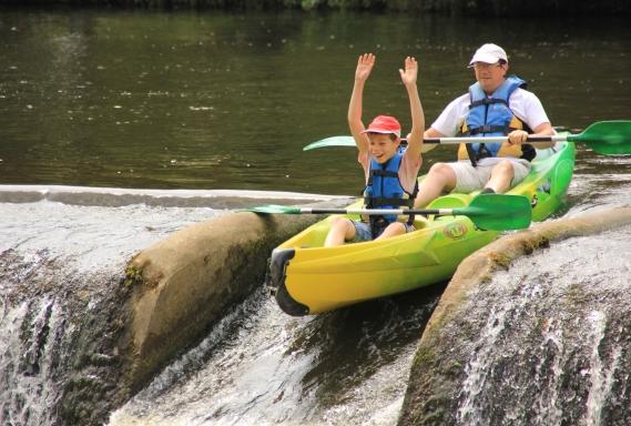 canoe en famille