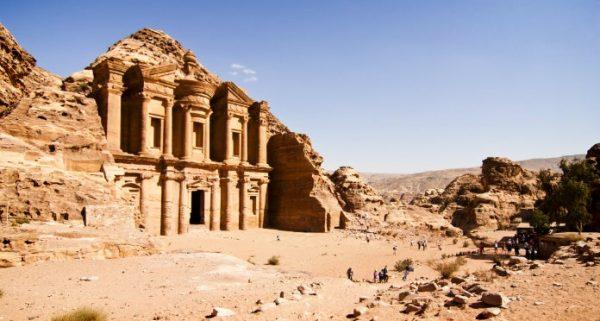 cité perdue de Petra en Jordanie